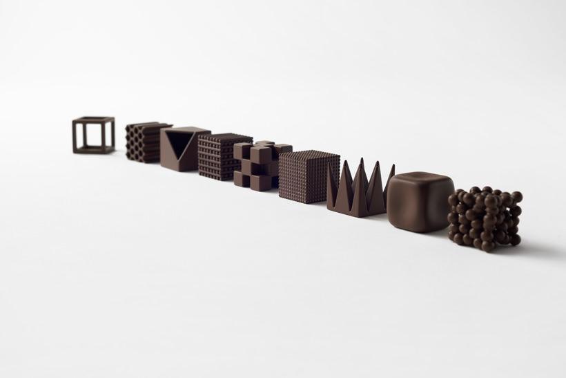 カタチで美味しさが変わるのか?nendo佐藤オオキによるデザインチョコレート「ショコラテクスチャ」